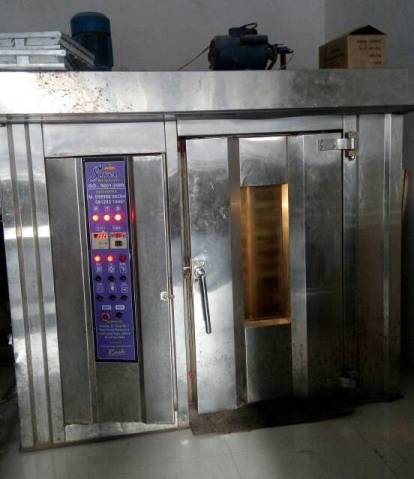 Rack Rotary Bakery Oven SS Body Electric Control