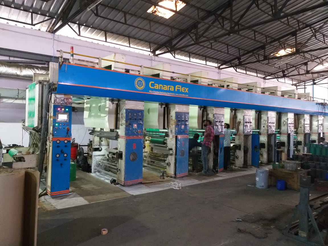 8 Colour Rotogravure Slitting Lamination Machine