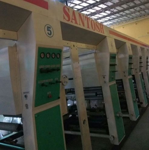 Santosh 8 Colour Rotogravure Printing Machine