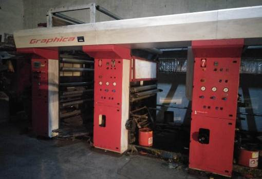 C Trivedi 8 Colour Rotogravure Machine